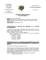 Conseil Municipal du 07 11 2014