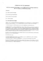 NOTE SYNTHETIQUE BP 2021 ET CA 2020 VILLEBICHOT